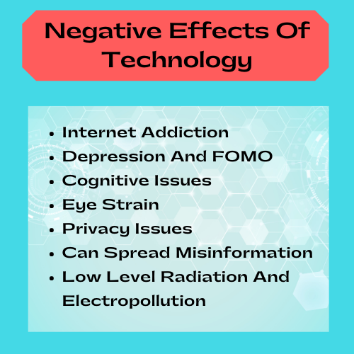 negative effects of technology graphic